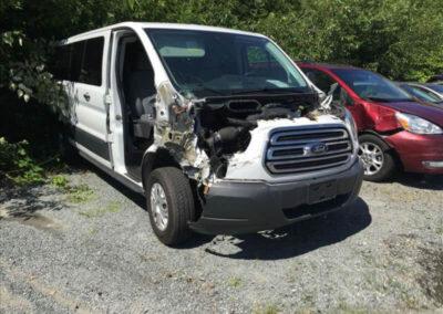Ford Transit before collision damage repair Seatac