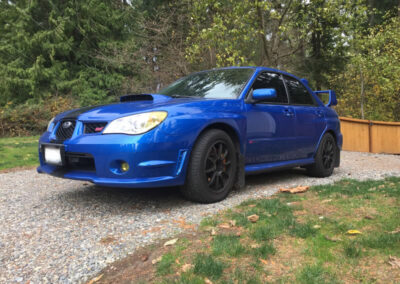 Subaru STI after collision damage repair Seatac