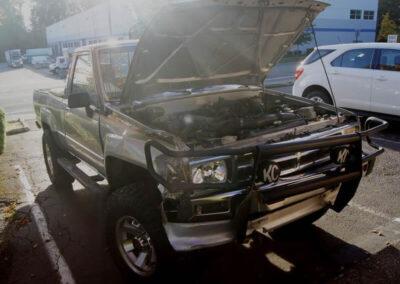Toyota Pickup before collision damage repair